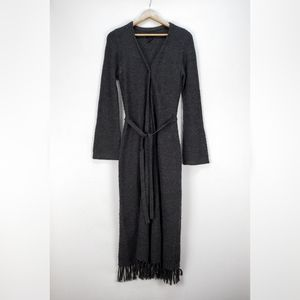 FRENCHI [Nordstrom] | cable knit fringed duster